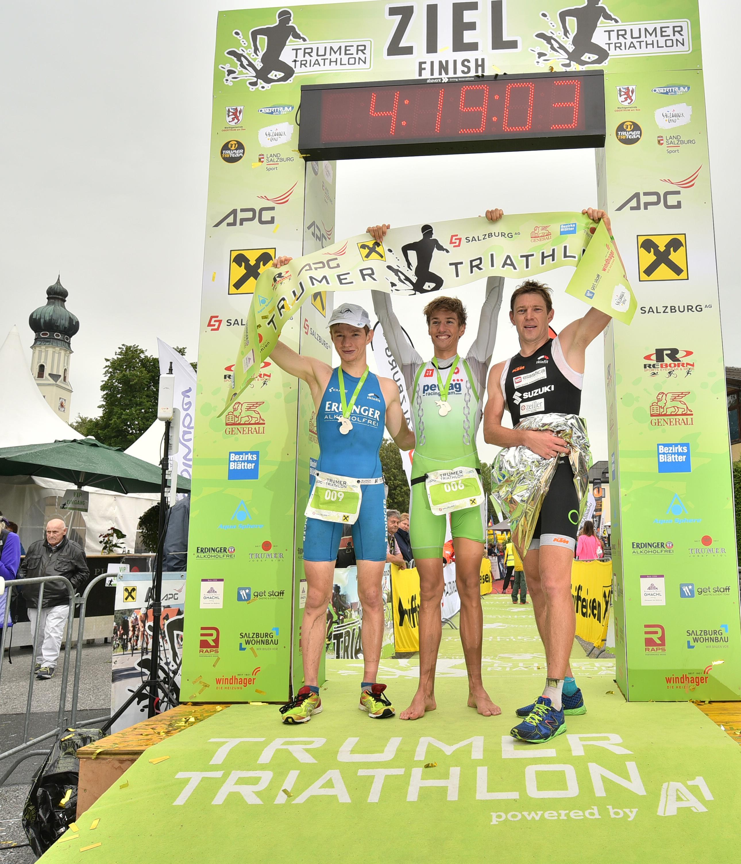 Die Sieger des Trumer Triathlon