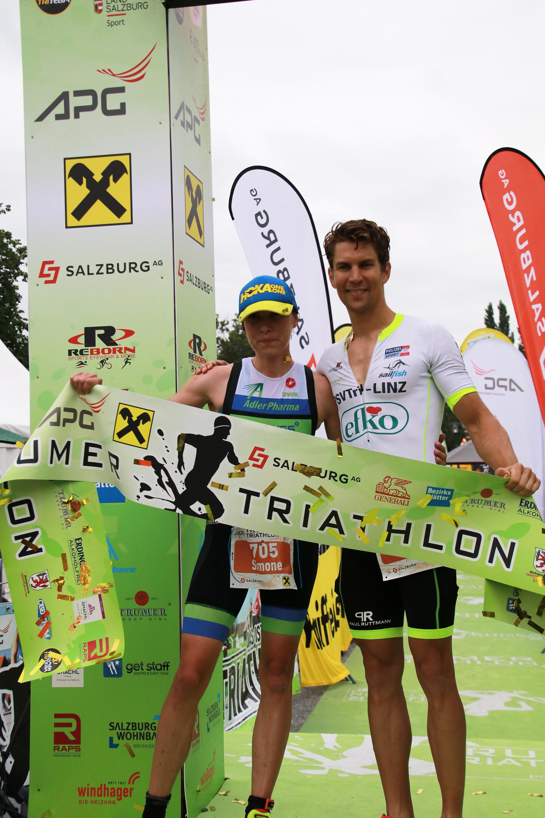 Gewinner des Triathlons in Obertrum