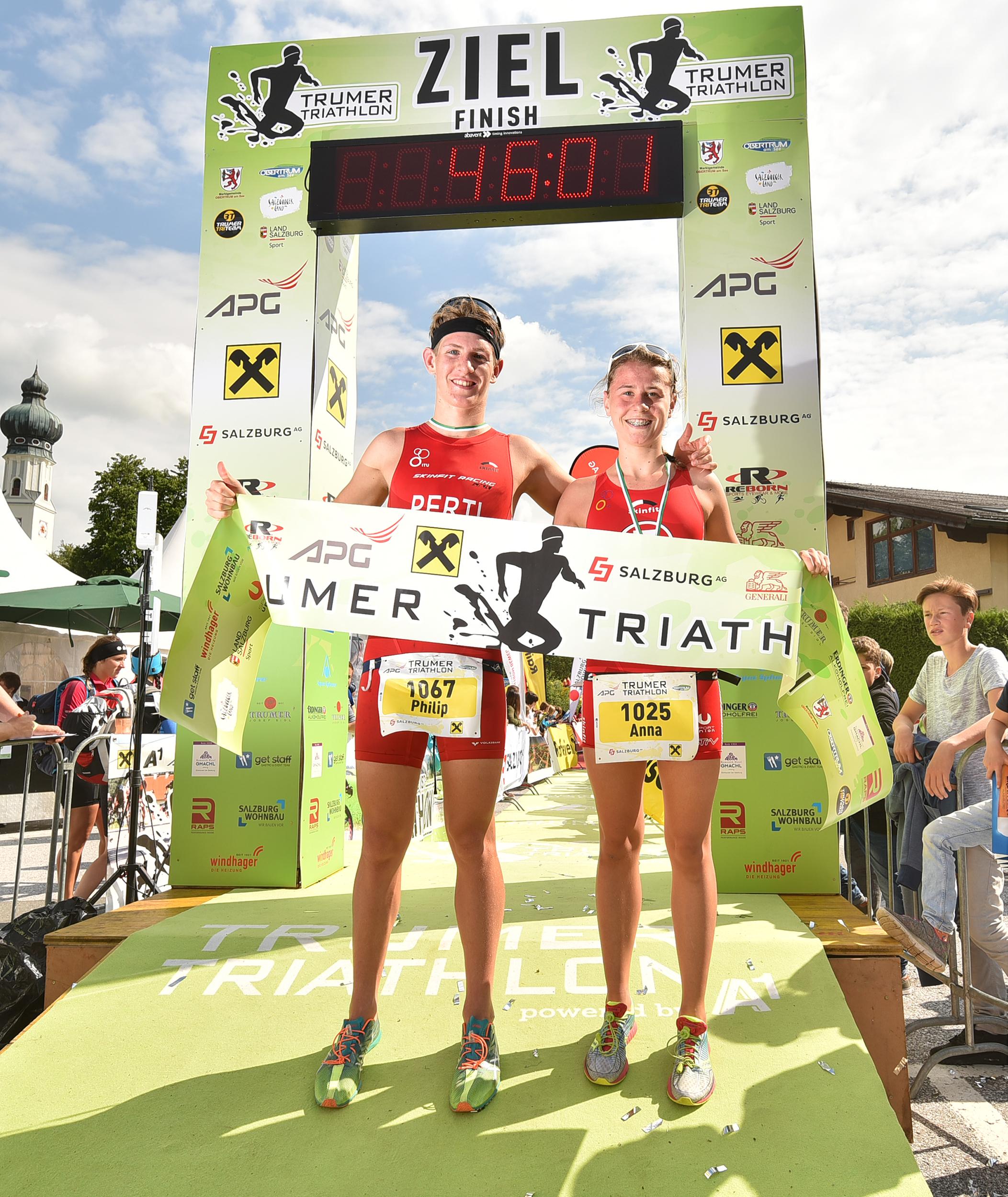 Sieger beim Triathlon in Obertrum