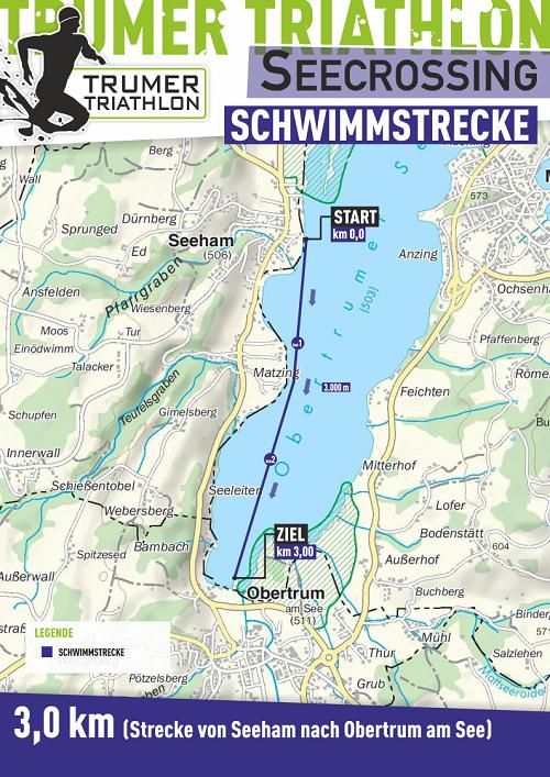 Darstellung Strecke des Seecrossing in Obertrum und Seeham
